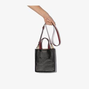 Marni Womens Black Museo Leather Tote Bag