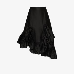 Marques'almeida Womens Black Asymmetric Silk Skirt