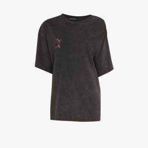 Y/project Womens Grey Rose-print T-shirt