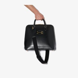 Gucci Mens Black 1955 Horsebit Duffle Bag