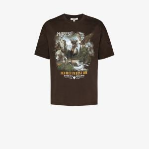 Phipps Mens Brown Protect Forest Life Cotton T-shirt