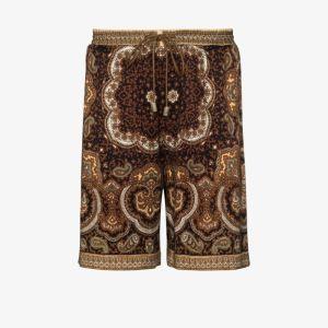 Nanushka Mens Brown Doxxi Paisley Print Shorts