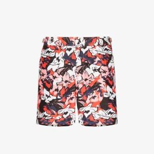 Orlebar Brown Mens Red Bulldog South Beach Floral Print Swim Shorts