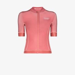 Pas Normal Studios Womens Pink Mechanism Jersey Zip-up T-shirt