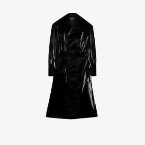 Mugler Womens Black Oversized Trench Coat