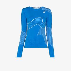 Off-white Womens Blue Athleisure Logo T-shirt