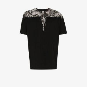 Marcelo Burlon County Of Milan Mens Black Camou Wings T-shirt