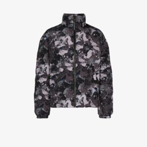 Marcelo Burlon County Of Milan Mens Grey Camouflage-print Padded Jacket