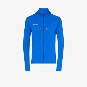 Mammut Mens Blue Eiswand Advanced Hooded Midlayer Jacket