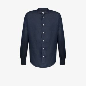 Eleventy Mens Blue Dandy Button-down Shirt