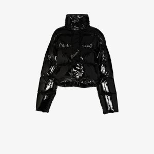 Balenciaga Womens Black Uniform Puffer Jacket