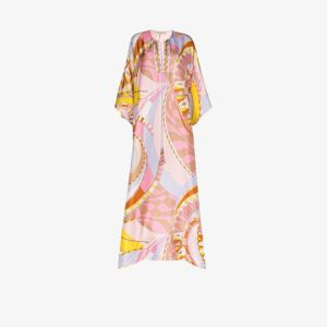 Emilio Pucci Womens Multicolour Wally Print Silk Kaftan Dress