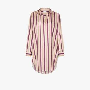 Pour Les Femmes Womens Purple Poet Multi-stripe Sleep Shirt