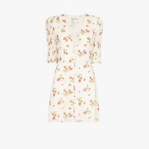 Reformation Womens Neutrals Alison Floral-print Mini Dress