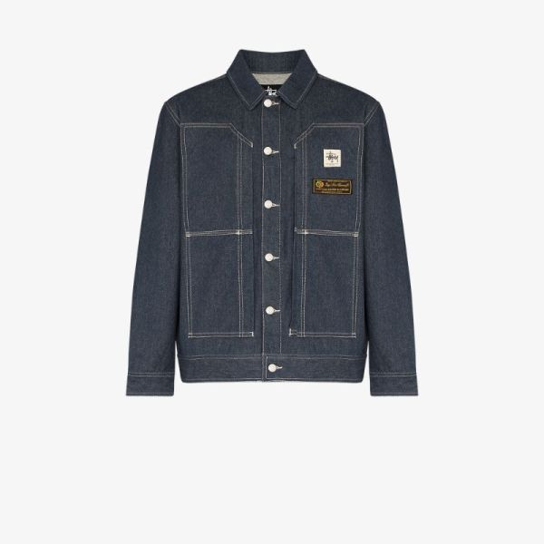1017 Alyx 9sm Mens Blue X Stüssy Denim Jacket