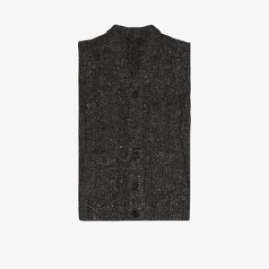 Prada Mens Grey Wool Vest