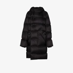 Rick Owens Womens Black Performa Quilted Coat