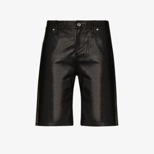 Rta Womens Black Jami Leather Shorts