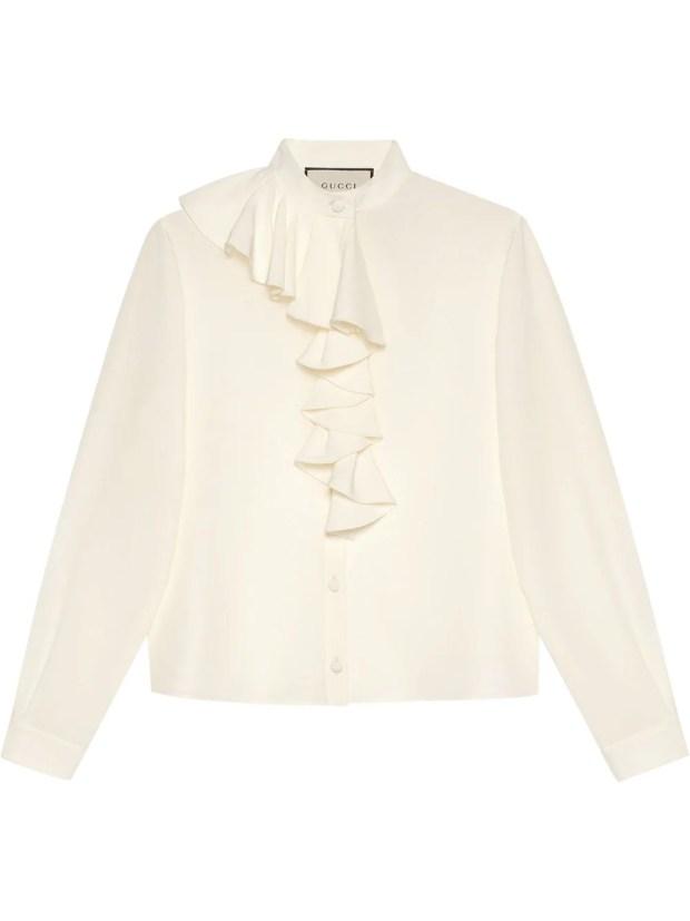 Image 1 of Gucci crêpe de chine ruffle blouse