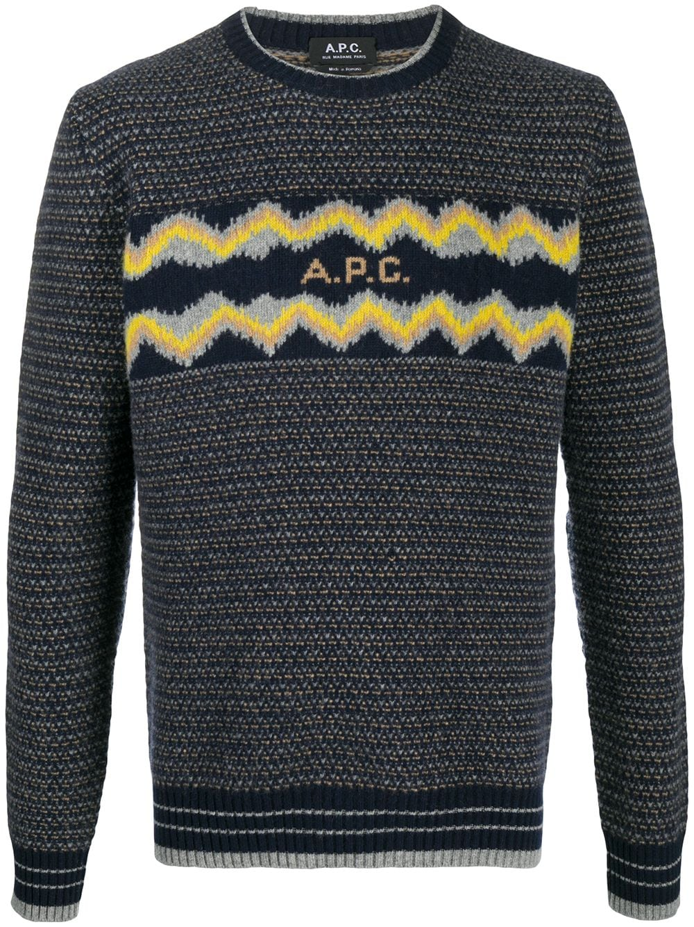 Image 1 of A.P.C. intarsia logo wool jumper