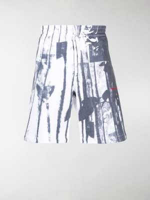 Alexander McQueen trompe l'oeil print track shorts