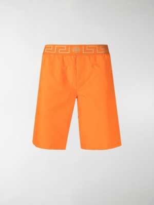 Versace Grecca waistband swimming shorts