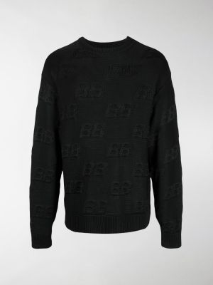 Balenciaga BB-embroidered jumper