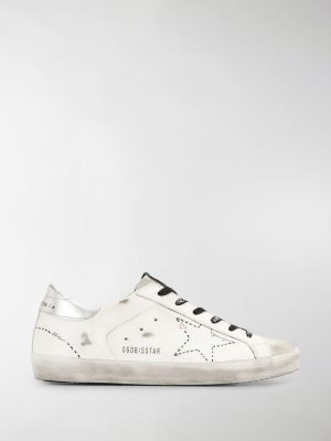 Golden Goose Superstar distressed low-top sneakers