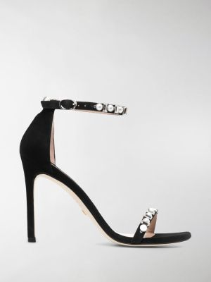 Stuart Weitzman crystal-embellished sandals