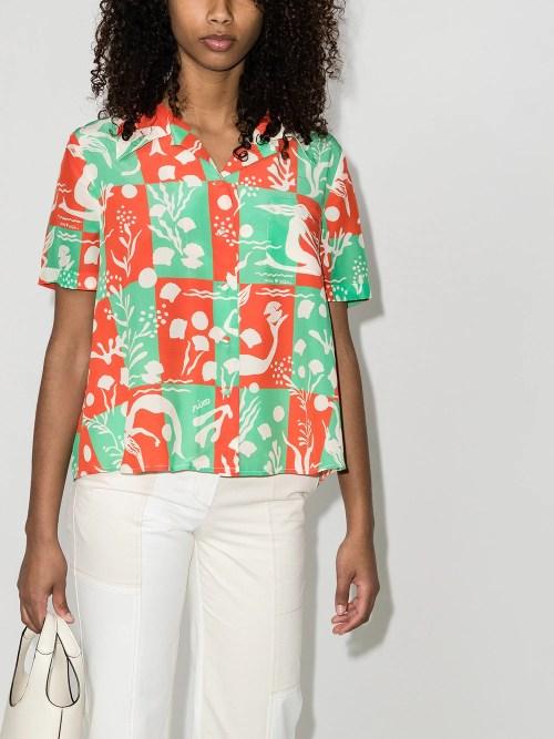 Image 2 of Rixo Rickie Sea Life print shirt