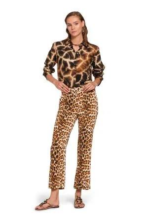 Camicia in seta con stampa Giraffe