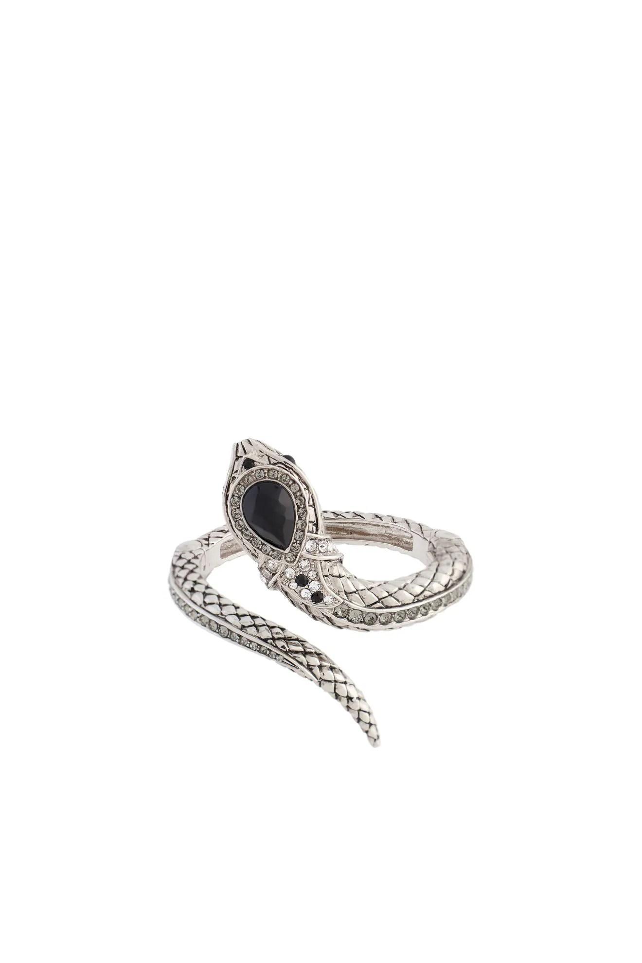 Onewish Swarovski Crystal Snake Bracelet
