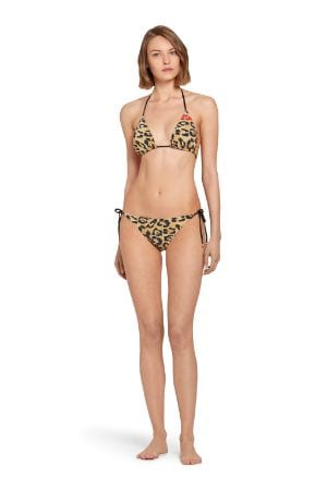 Top bikini con stampa Jaguar