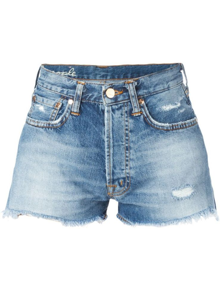 PEOPLE distressed denim shorts