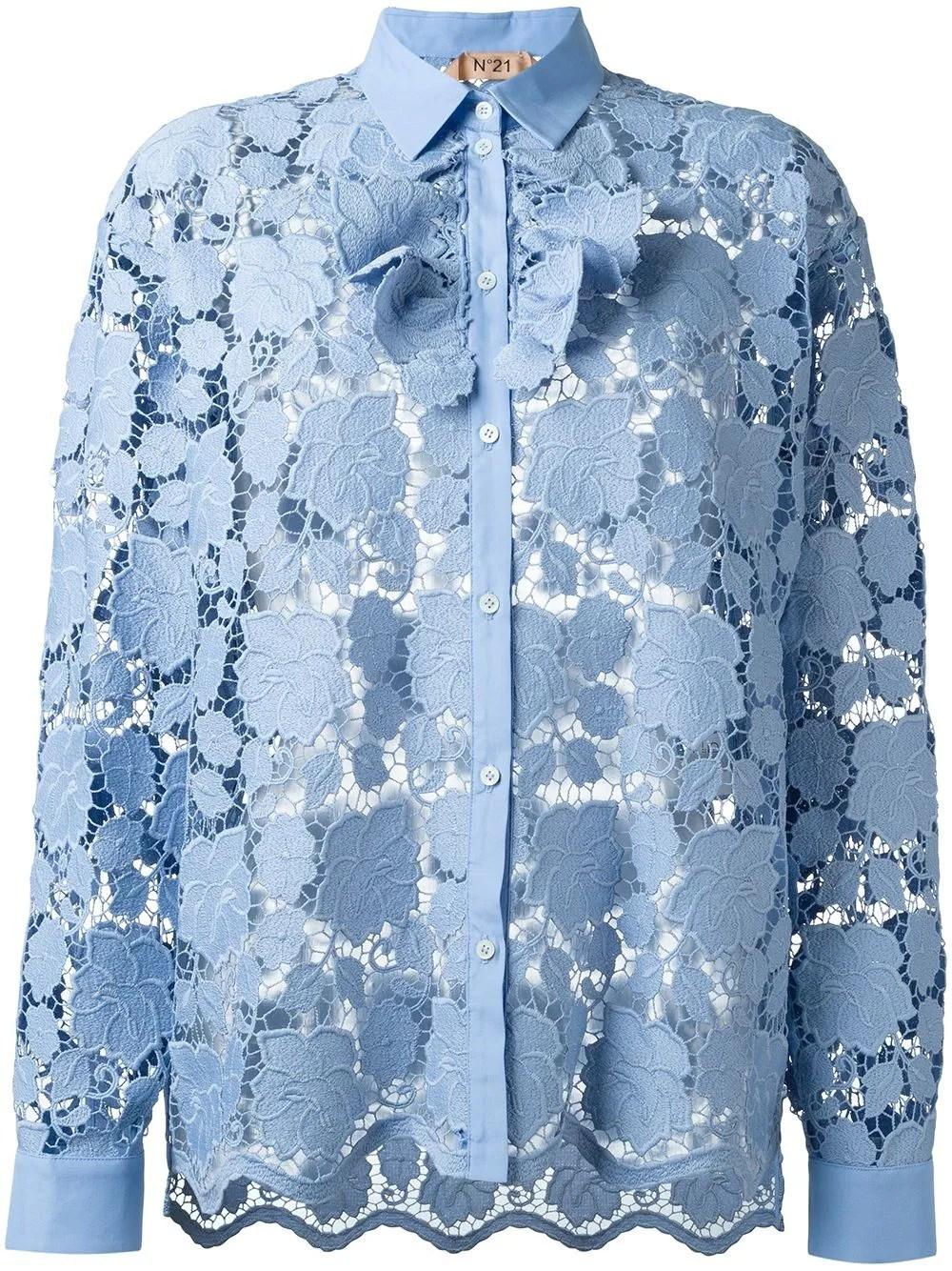 Nº21 floral lace shirt