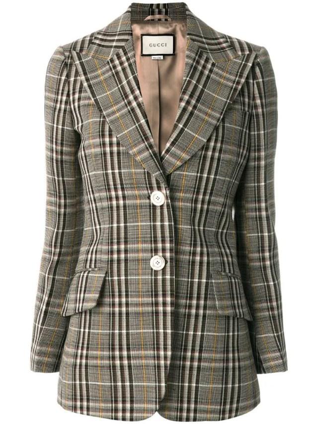 Gucci - checked single breasted blazer, $2980.0