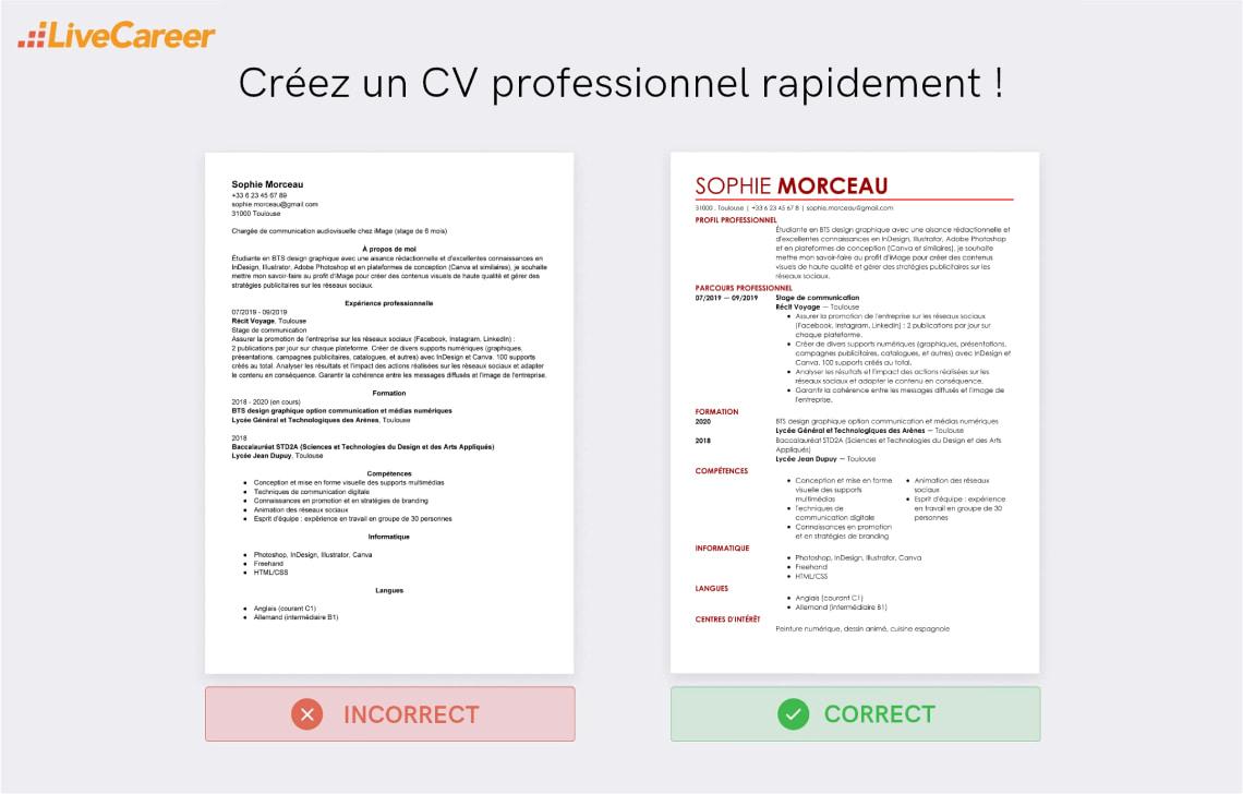 Cv Parcoursup Exemple Et Competences A Mettre Sur Le Cv