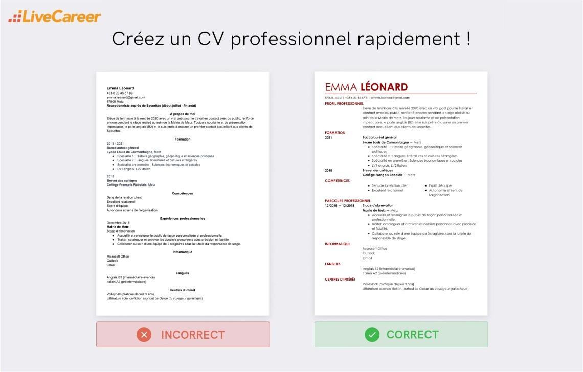 Exemple Cv Job D Ete Des 16 Ans Cv Pour Travailler Cet Ete