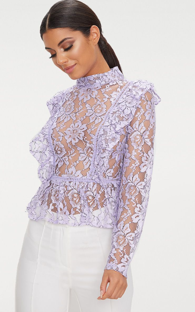 Frill Front Lace Bouse