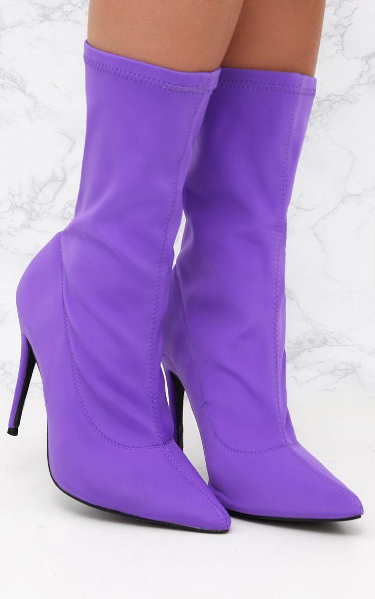 Purple Lycra Sock Boot