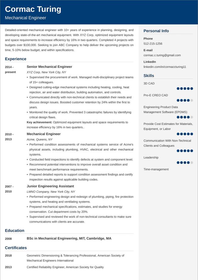 non technical resume format  resume sample