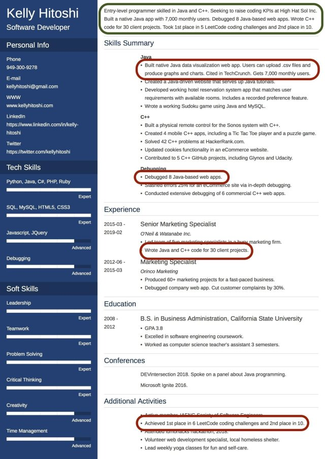 Professional Resume Summary Statement [Examples & How to Write it]