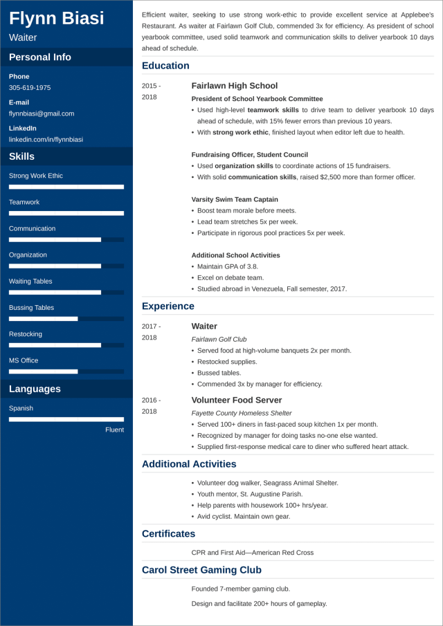 Resume Examples for Teens (Template & 22+ Tips)