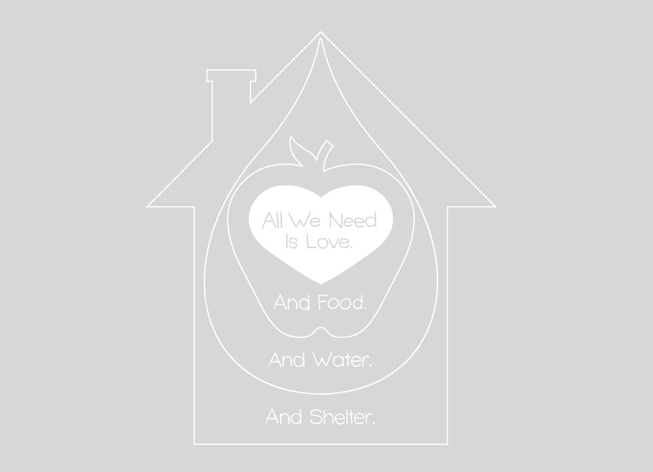 All We Need Is Love And Food And Water And Shelter By