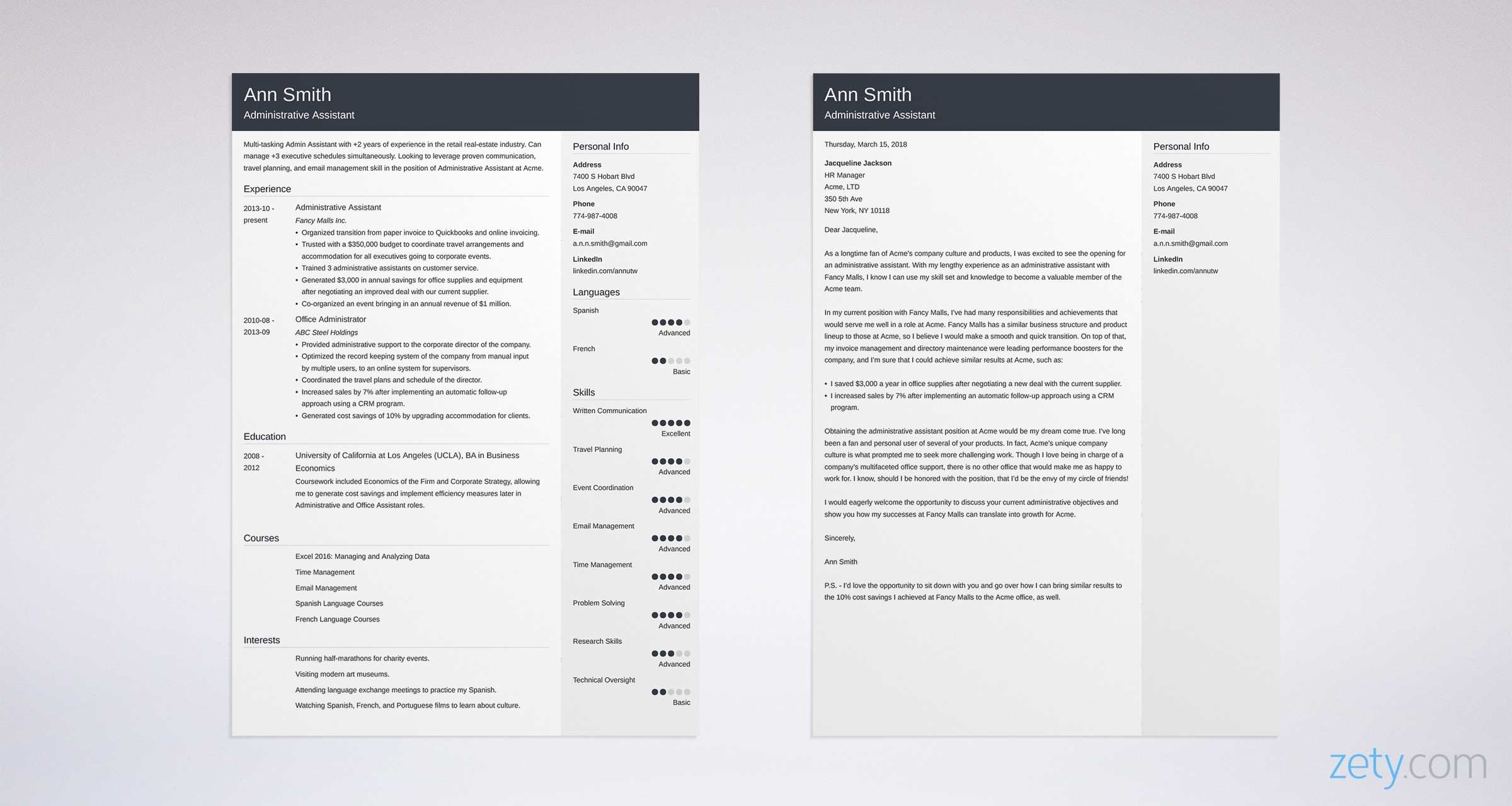 Cover Letter Administrative Assistant Examples