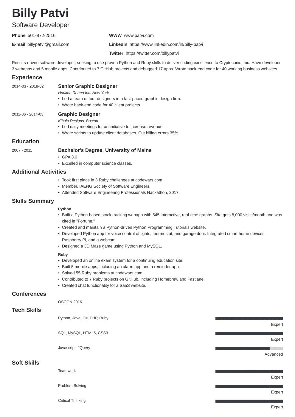 Career Change Resume Samples Template