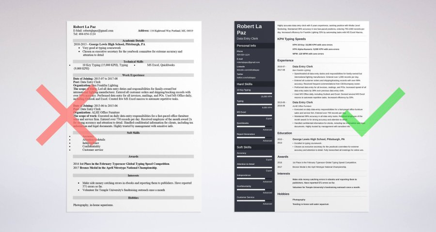 Data Entry Resume  Sample   Complete Guide   20 Examples