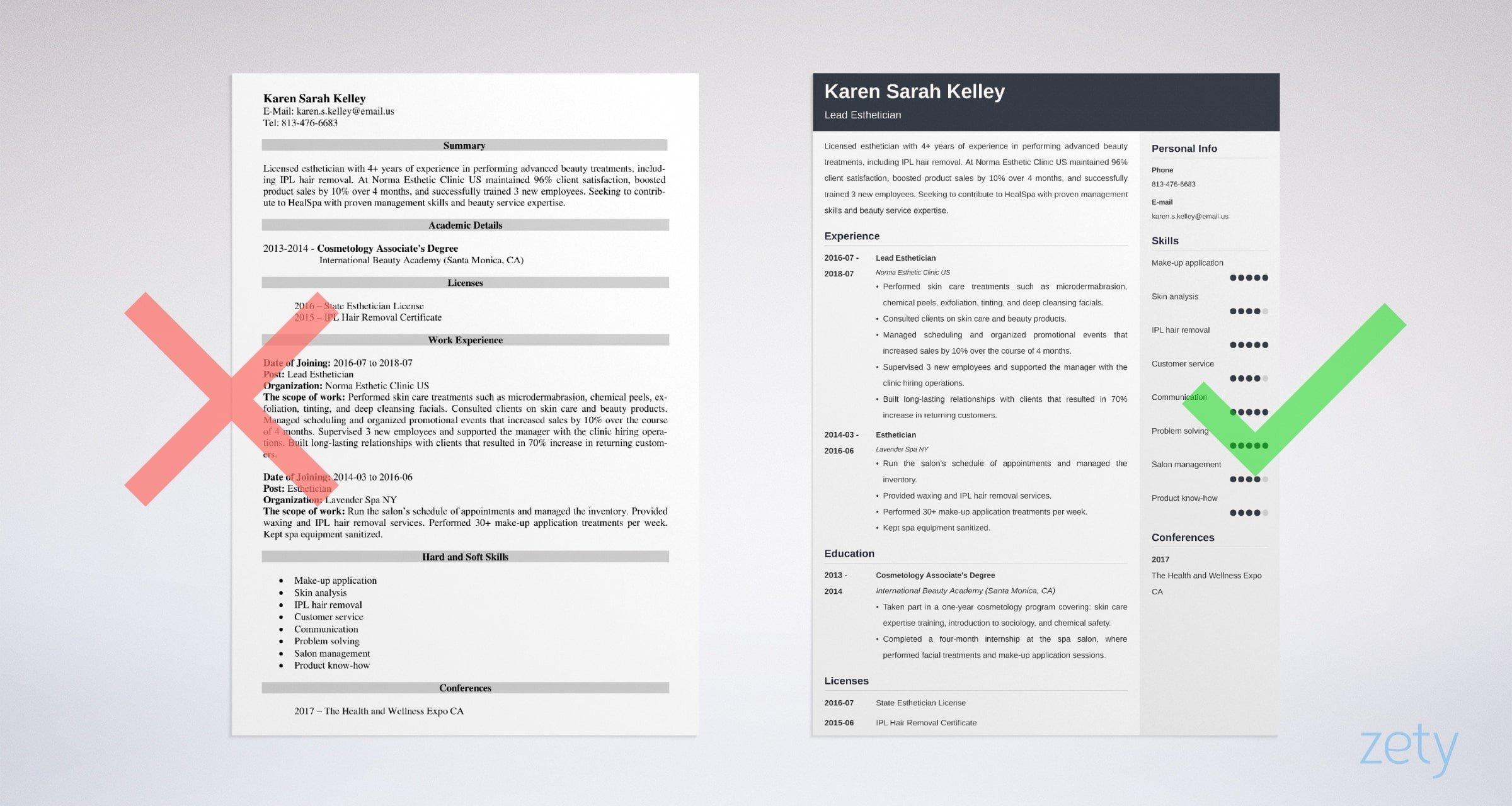 Esthetician Resume Sample Amp Writing Guide【20 Tips】
