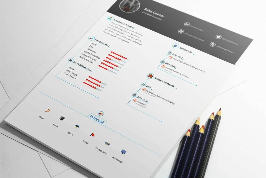 Free Resume Templates  17 Downloadable Resume Templates to Use infographic resume template for free