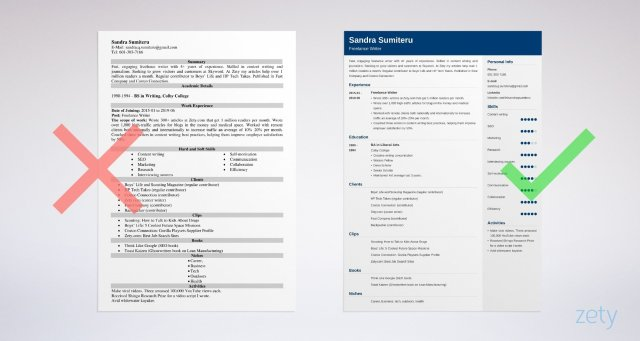 Freelance Writer Resume Sample (Template & Guide)